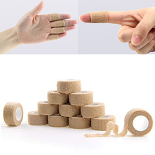 2.5cm 12 Rolls Self Adhesive Elastic Bandage Adherent Cohesive For Finger Nonwoven