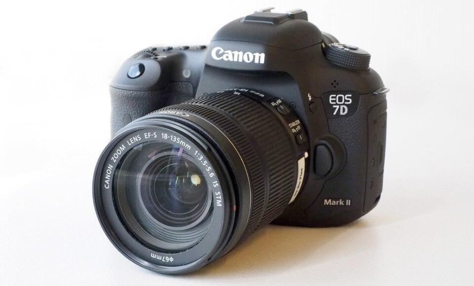 Nowy Canon EOS 7D Mark II MK 2 korpus aparatu DSLR z EF S 18 135mm f/3.5  5.6 IS STM obiektyw w Aparaty DSLR od Elektronika użytkowa na  Grupa 1