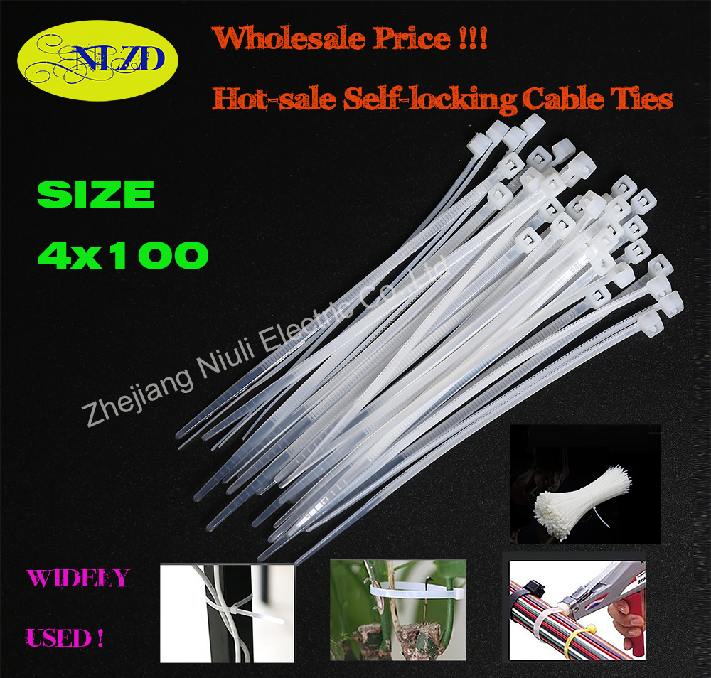 medium resolution of 4x100 500pcs pack width 3 6mm hot sale nylon cable ties national standard high quality