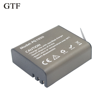 GTF 3.7V PG1050mAH Battery For EKEN Action Camera H9 H9 H3 H3R H8PRO H8R H8 pro SJ4000 SJCAM SJ5000 M10 SJ5000X Recharge battery