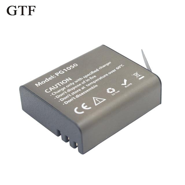 GTF 3.7V PG1050mAH Battery For EKEN Action Camera H9 H9 H3 H3R H8PRO H8R H8 pro SJ4000 SJCAM SJ5000 M10 SJ5000X Recharge battery