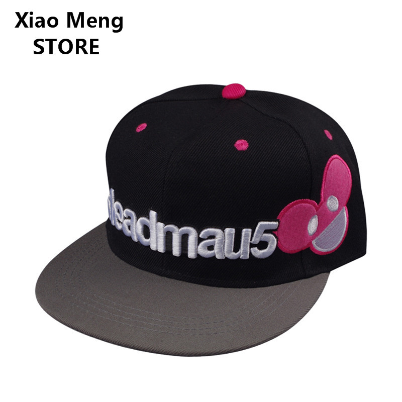 New Summer Cotton Letter DEADMAU5 Baseball Caps Hats For Men Women Bone Embroidery Mickey Snapback Hat Hip Hop Cap Casquette M17 new fashion floral adjustable women cowboy denim baseball cap jean summer hat female adult girls hip hop caps snapback bone hats