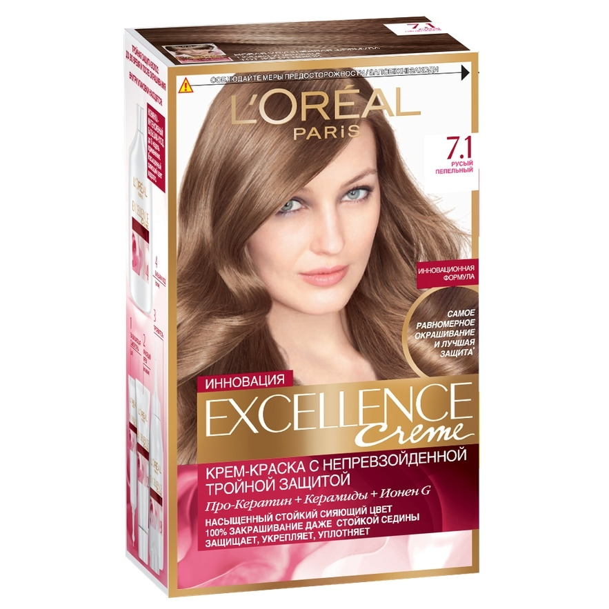 Loreal Excellence Hair Color Tone 71 Ash Blonde In Hair Color From
