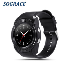 SOGRACE Smart Watches V9 Smartwatch 2018 Dial Call Watch Women Men Life Waterproof On Wrist Smart-Watch Y113