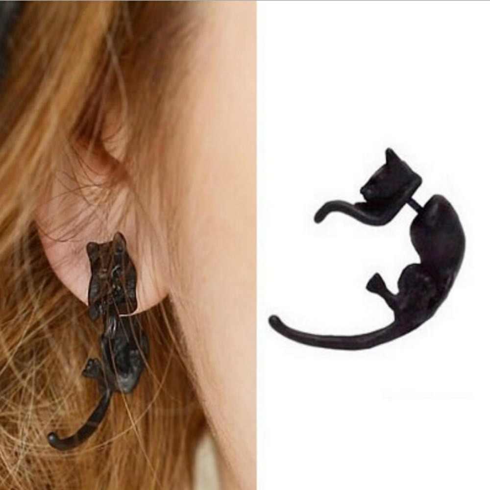 1ชิ้น!!!บุคลิกภาพโอ้อวดยาวหางเสือดาวเจาะต่างหู/แมวเสือดาวขนาดเล็ก3สีต่างหูสำหรับเด็กหญิงและเด็กชาย