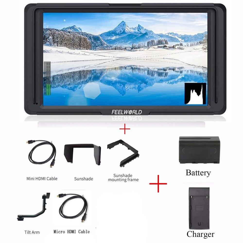 Feelworld F5 Профессиональный Класс 5 ips 4 K камера HDMI лучший монитор для цифровой зеркальной камеры Canon Nikon sony однообъективной цифровой зеркальной