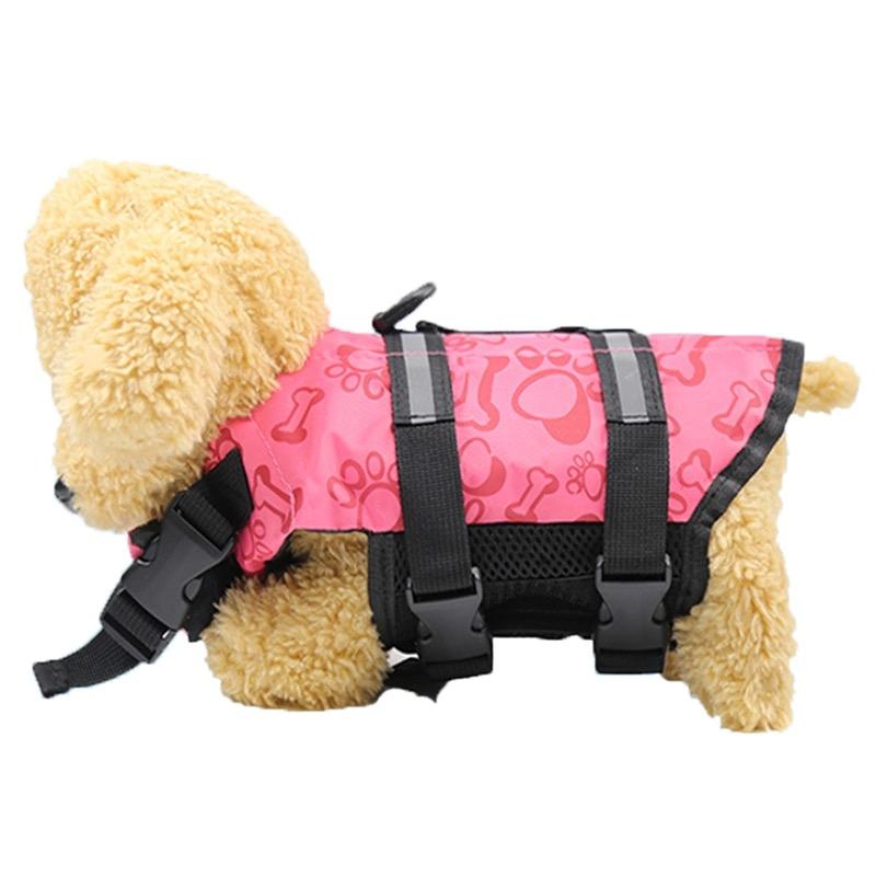 Dog Life Jacket Safety Clothes Pet Life Vest Summer Dogs Swimming Clothing French Bulldog Fin Jacket Play in the Sea GGC23 in Dog Vests from Home Garden