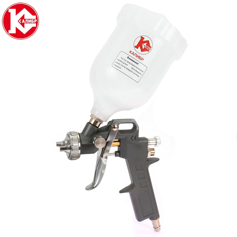 Kalibr KPR-1.5/0.6VB Manual Spray Gun Spray Cup Filter Oil-water separator Furniture Car Paint Spray Gun zndiy bry afr2000 air pressure regulator oil water separator trap filter airbrush compressor