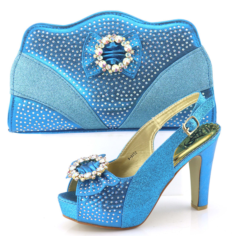 Turquoise blue sandal shoes match bag with high heel 4.3 inches size38-42 newest fashion shoe and bag sandal clutches SB8240-6Turquoise blue sandal shoes match bag with high heel 4.3 inches size38-42 newest fashion shoe and bag sandal clutches SB8240-6