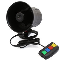 X Autohaux 12V 30W Warning Alarm Loud Siren Horn For Car Auto 4 Sounds Tone Pa