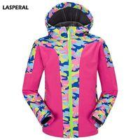מותגים LASPERAL הסוואה גברים נשים מעיל רוכסן ברדס מעיל מעילי שרוול ארוך צמר Windproof עמיד למים מעילים חמים XS-3XL