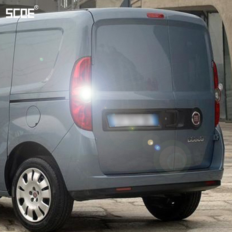 For Fiat Doblo 263 (III) Doblo Cargo 263 Panda (312) SCOE 2015 New 2X22SMD Super Bright Back Up Light Reverse Light Car Styling car window curtains legal