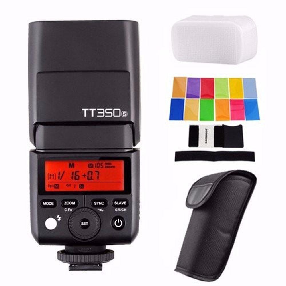 Godox TT350S 2.4G HSS 1/8000s TTL GN36 Wireless Speedlite Flash for Sony A9 A7 III A7R3 A7R III A7 A7R A7S A6300 A6000-in Flashes from Consumer Electronics    1