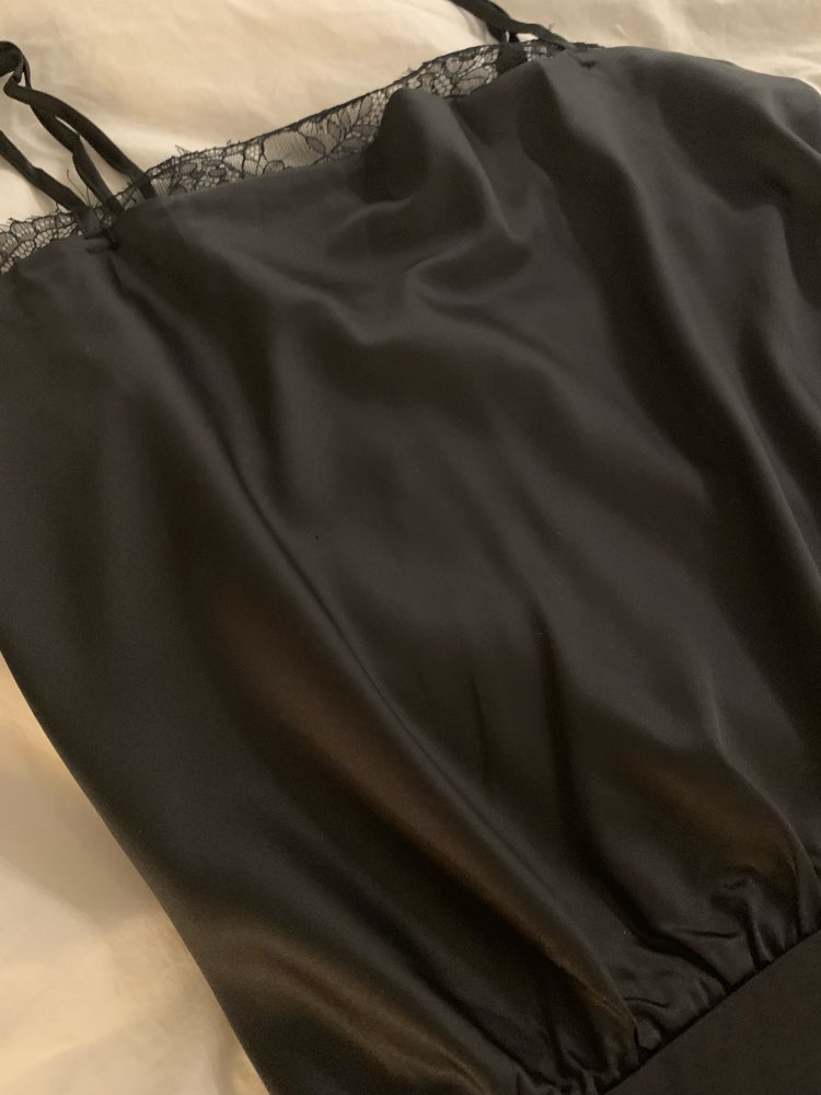Sexy Lace Bodysuit Hem Satin Women Bodysuit Spaghetti Strap Female Top Jumpsuit Elegant Solid Ladies Rompers Overalls photo review