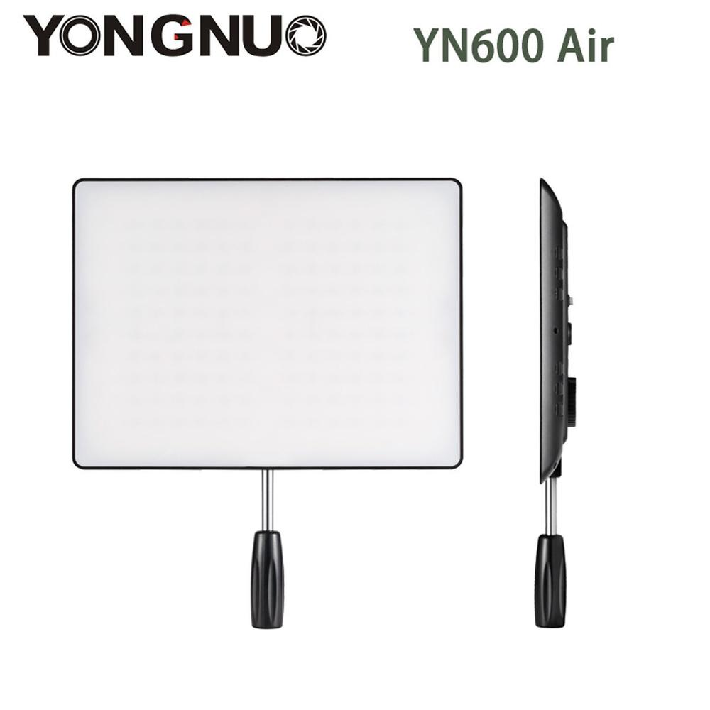YONGNUO <font><b>YN600</b></font> <font><b>Air</b></font> 3200K-5500K LED Camera Video Light video photography Light+AC Power Adapter charger kit For Canon Nikon image