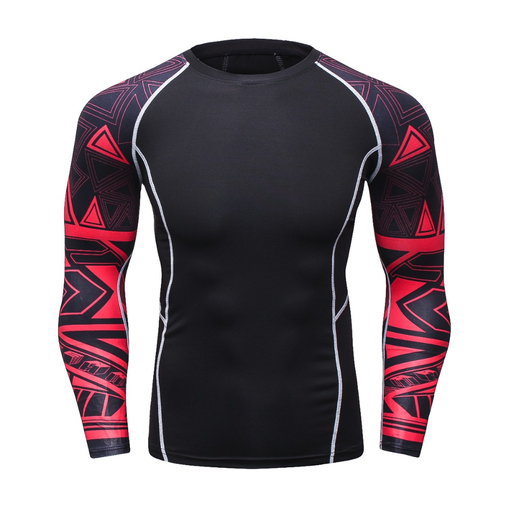 2018 New Men Long Sleeve 3D T-Shirt Compression Brand T Shirt Men 3D Print Crossfit Fitness Tshirt Sportswear Shirt Tops&Tees