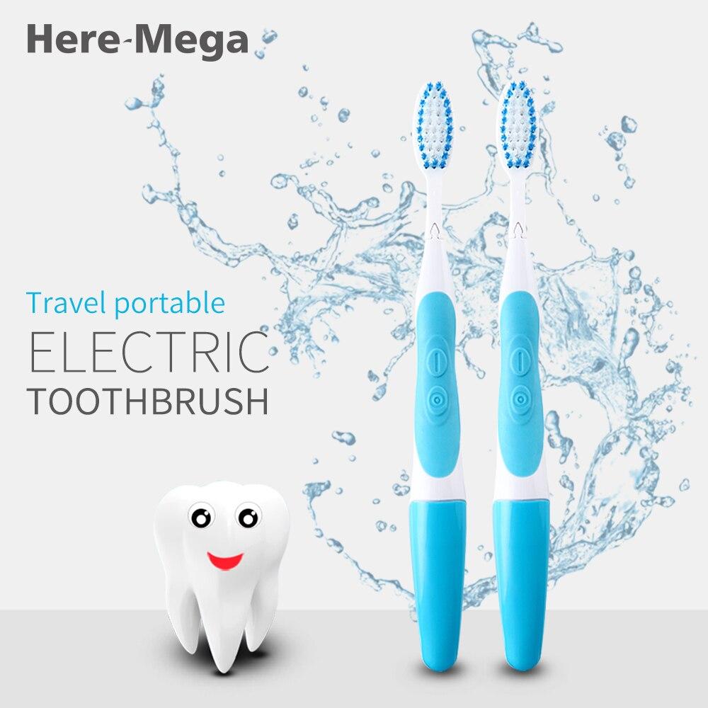 HERE-MEGA cepillo de dientes eléctrico sónico portátil de viaje cepillo de dientes eléctrico de limpieza profunda cepillos blanqueamiento cuidado de la salud bucal 101