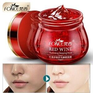 Image 1 - Koreanischen Roten Wein Essenz Schlaf Gesichts Maske Bleaching Creme Feuchtigkeits Gel Nacht Creme Aging Ernährung Erhellen Gesicht 100g