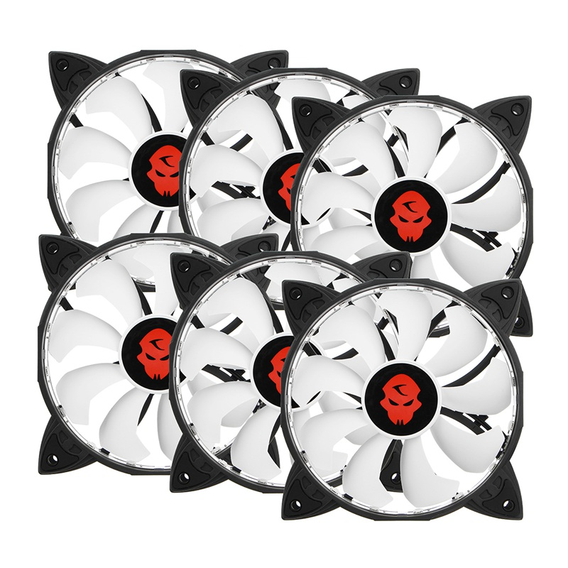 6PCS RGB Adjustable LED Cooling Fan 120mm With Controller Remote For Computer High Quality Computer Cooling Cooler Fan For CPU personal computer graphics cards fan cooler replacements fit for pc graphics cards cooling fan 12v 0 1a graphic fan