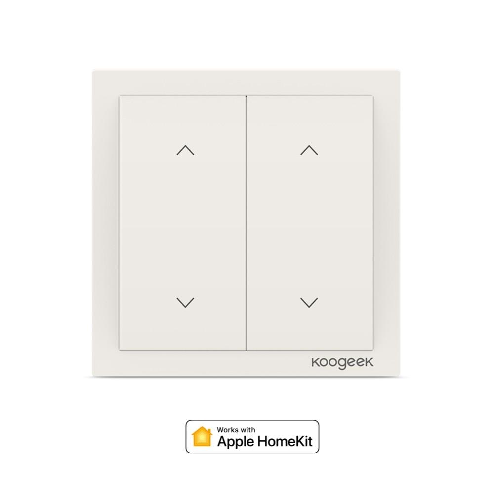 Koogeek 2 Gang WiFi interrupteur Sans Fil Siri télécommande interrupteur es Maison Intelligente pour Apple HomeKit Alexa Google Assistant