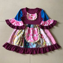 2017 Spring and Autumn Baby Girls Flare Sleeve Infants Children Fashion Sets Casual Clothing Apparel Ruffle Accessory