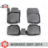 Tapis de sol pour Ford Mondeo 2007-2014 tapis antidérapants en polyuréthane protection contre la saleté accessoires de style de voiture intérieure