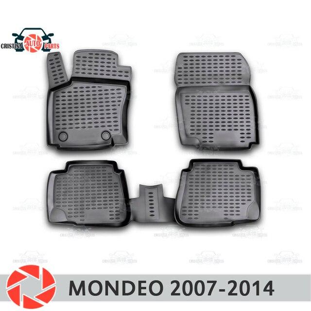 Коврики для Ford Mondeo 2007-2014, Нескользящие полиуретановые грязезащитные аксессуары для салона автомобиля