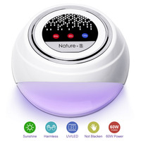 Modelones 60W UV Lamp LED Nail Lamp Nail Dryer For All Gels Polish With Infrared Sensing 60/90/120s Timer Smart touch button