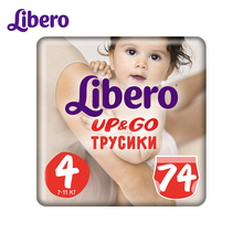 Трусики-подгузники Libero Up&Go Size 4(7-11кг), 74 шт