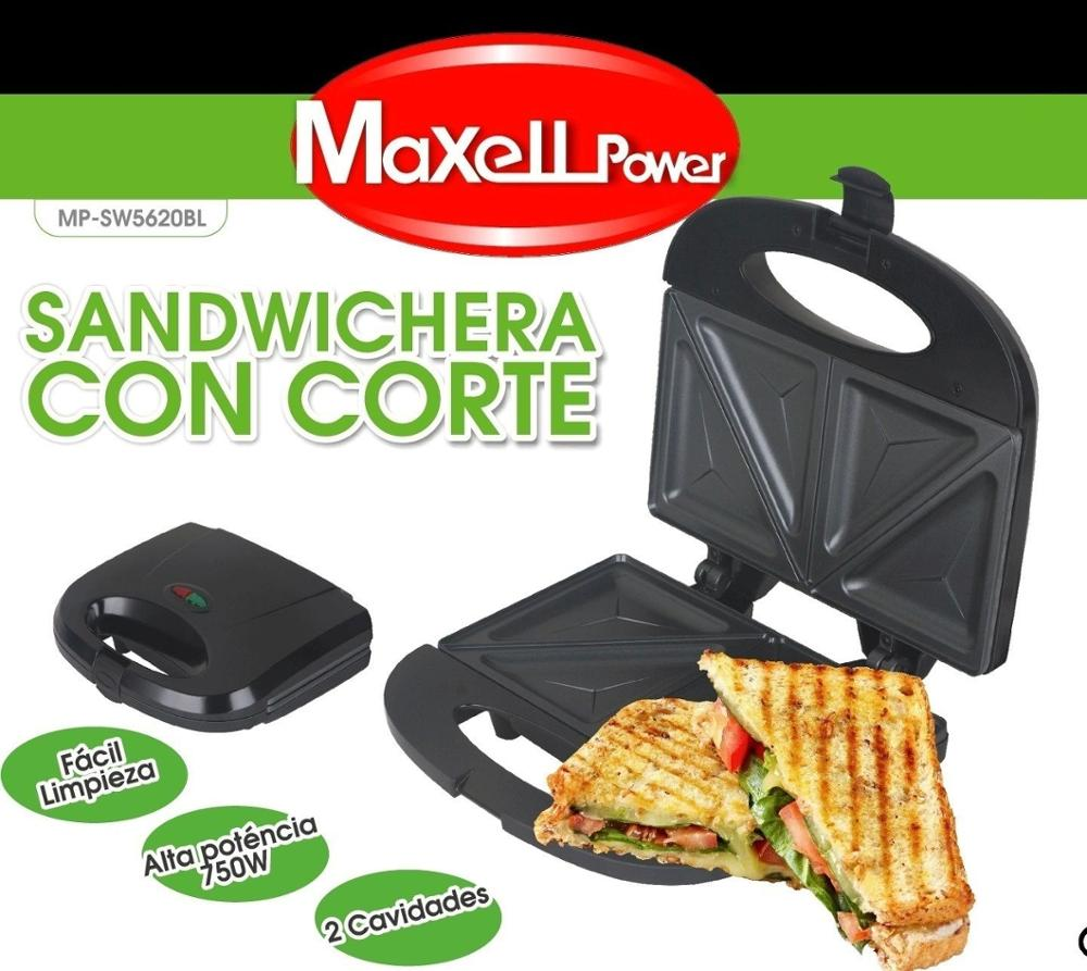 SANDWICH ELECTRICA NONSTICK DOUBLE 750 W REINFORCED CUTTING MATERIAL COLOR BLACK MP-SW5620BL