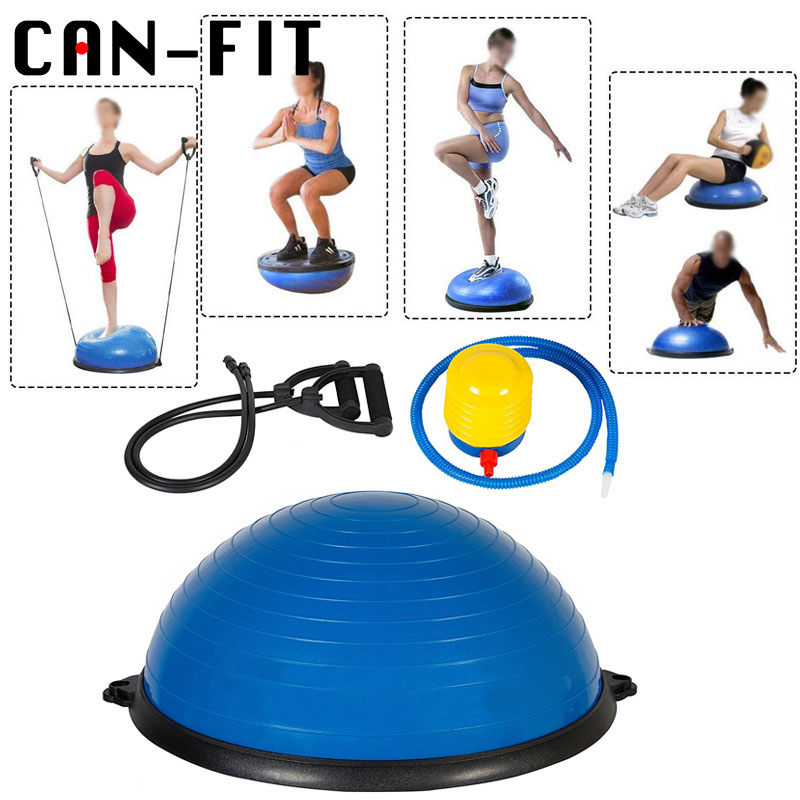 2 Colors 58cm Bosu Ball with Pump Fitness Equipment