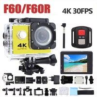 Экшн-камера Ultra HD 4 K WiFi 1080 P/60fps 2,0 lcd 170D объектив шлем Cam Водонепроницаемая профессиональная спортивная камера