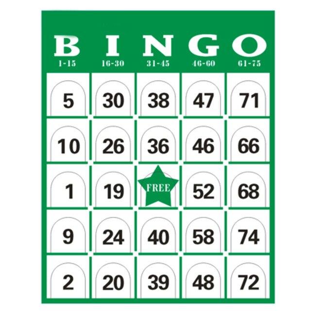60 Pçs/set Completa Bolas de Bingo Jogo De Cartão Do Jogo Gaiola Cartões Marcadores Kit Placa Noite em Família Divertido Brinquedos