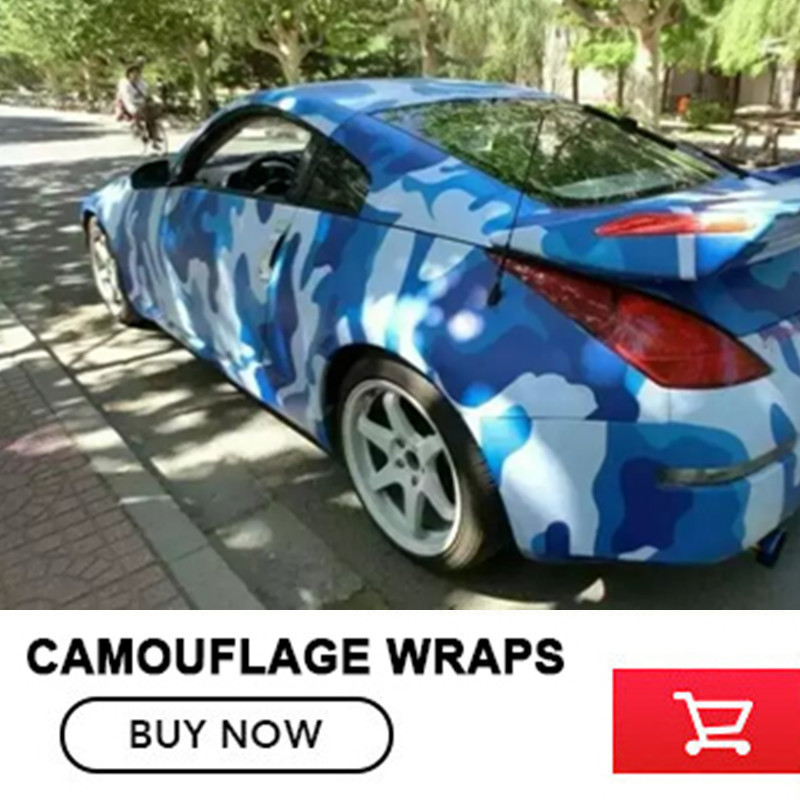 Premium Quality Navy Camouflage Vinyl Film With Air Free Bubbles