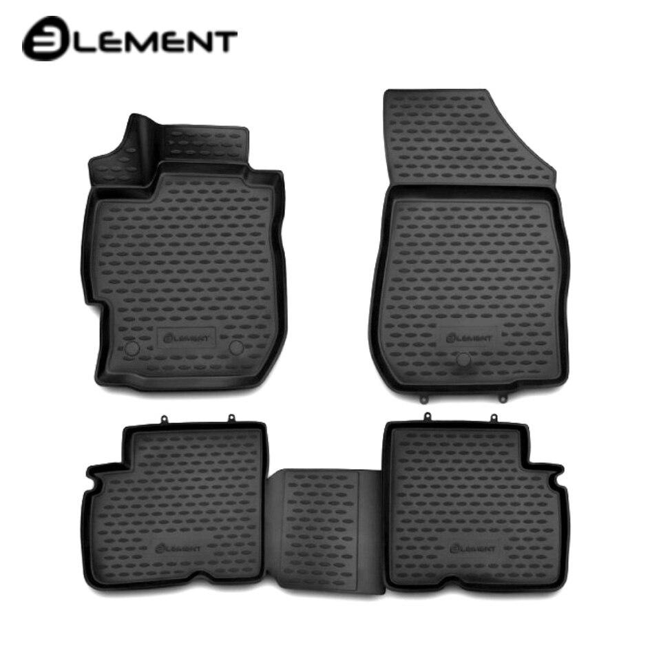 For Nissan Almera G15 2013-2019 3D floor mats into saloon 4 pcs/set Element CARNIS10055K дверь nissan almera g15