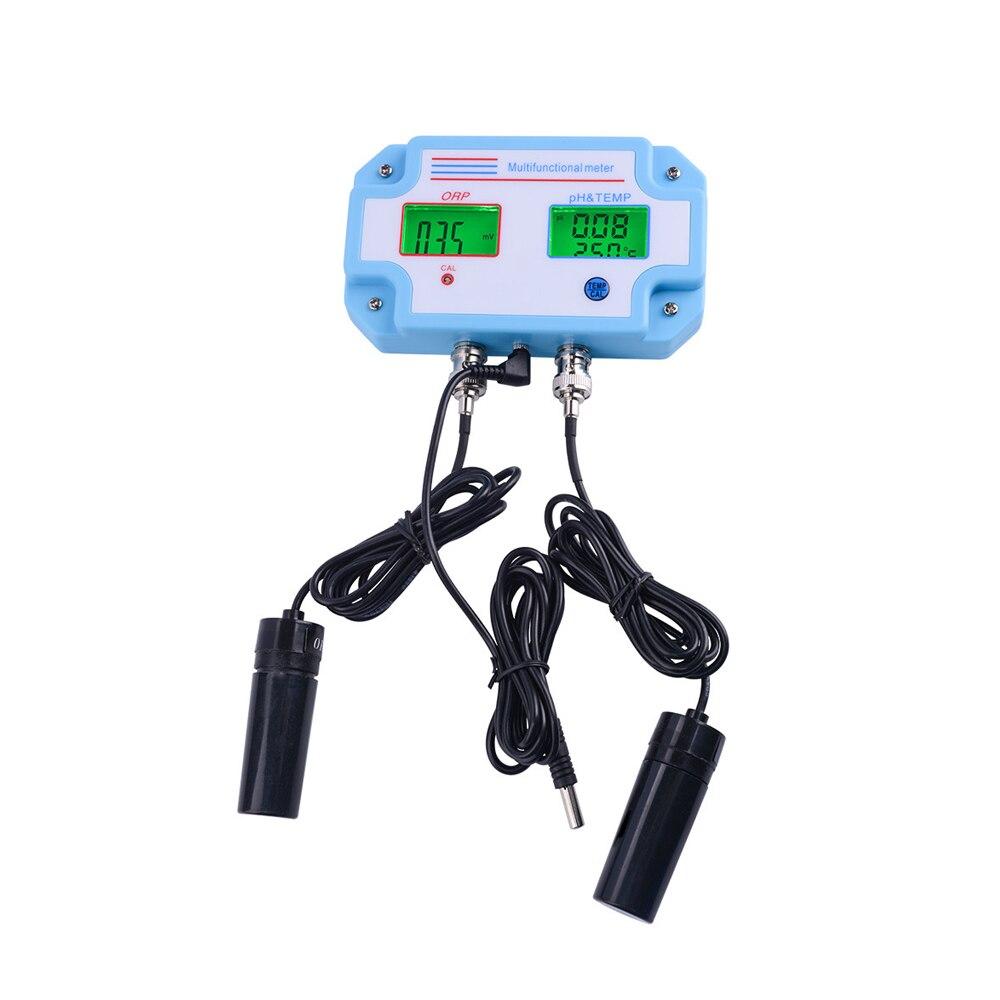 Multiparameter 3 in 1 Aquarium pH meter ORP/TEMP Meter Water Quality tester Monitor Multi-parameter Digital Tri-Meter portable 3 in 1 aquarium ph orp temp meter water monitor multi parameter digital lcd water quality tester 40%off