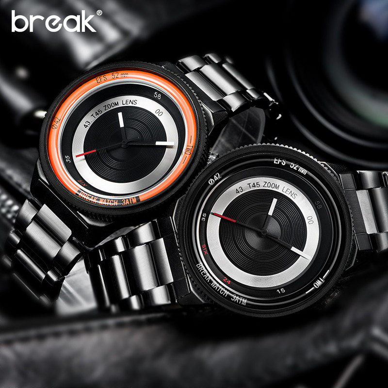 Men Watches Photographer Series Unique Camera Style Quartz Wristwatches Stainless Strap Casual Fashion Modern Gift Relogio