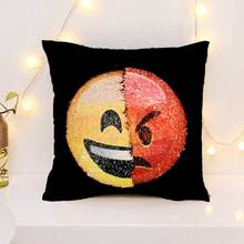 muchun Emoji DIY Pillow Case Funny Emotion Christmas Party Covers 40*40cm Home Magic Decorative Cover