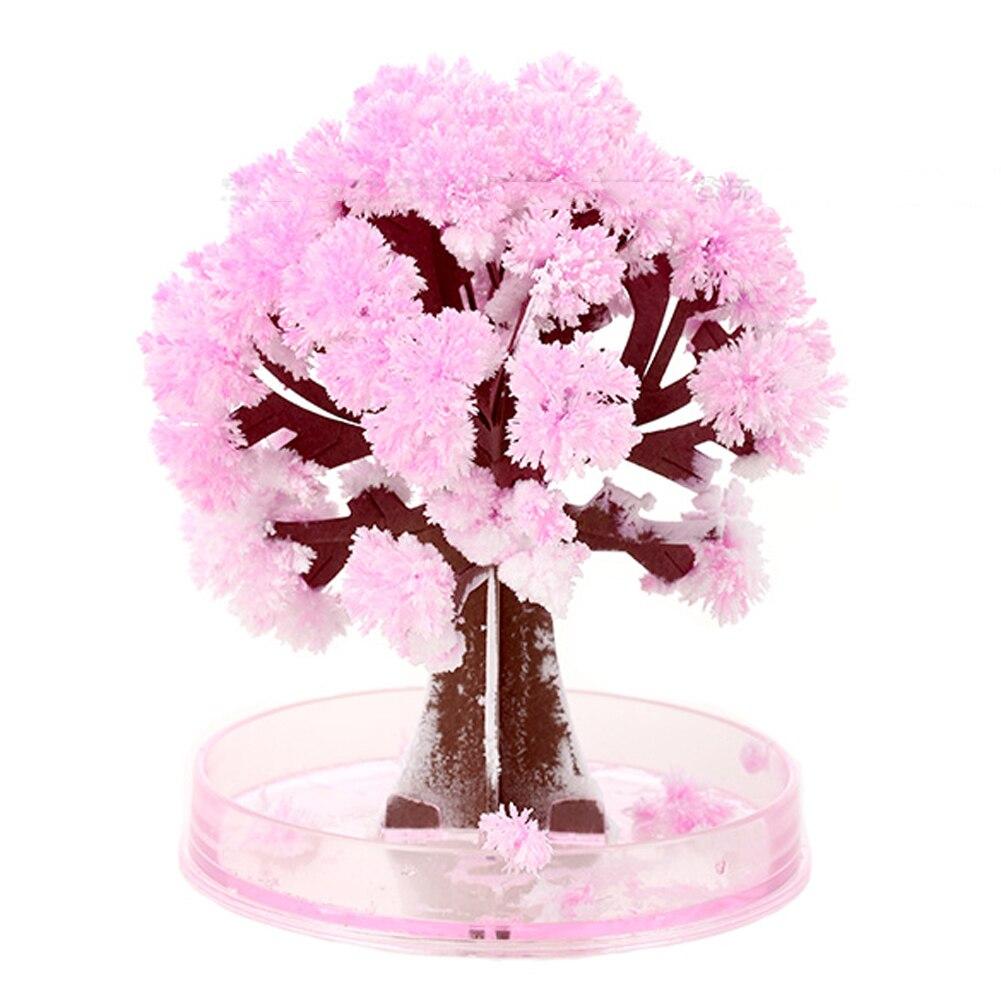 2018 DIY Paper Flower Artificial Magic Sakura Tree Desktop Cherry Blossom Kids Education Toys