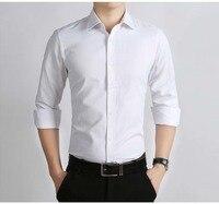 Custom made 100% cotton men's shirts Formal Shirt white Men Long Sleeve Men's Shirt Slim Fit Shirts puls larger size