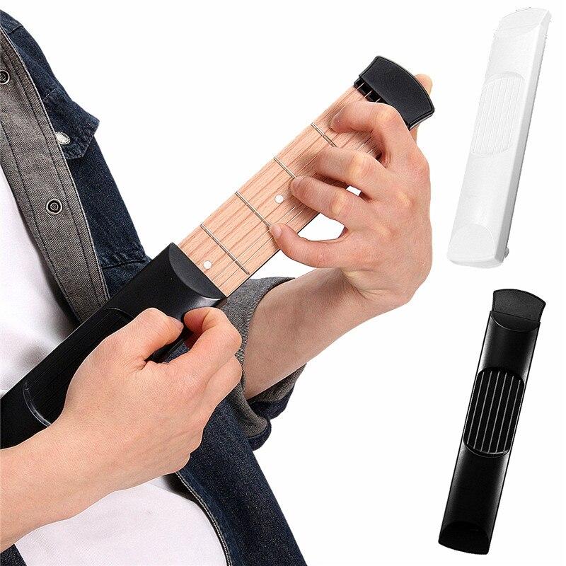 6 Strings Acoustic Guitar Trainer Tool Portable Guitar 6 Fret Model Wooden Practice Guitarra font b