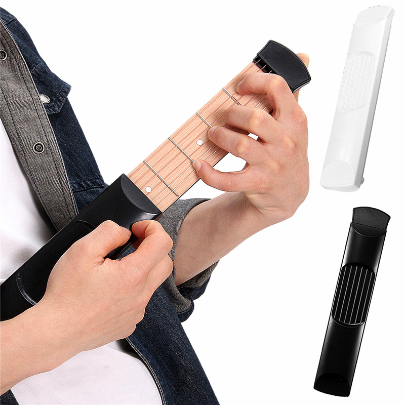 6 Strings Acoustic Guitar Trainer Tool Portable Guitar 6 Fret Model Wooden Practice Guitarra Gadget with Bag For Beginners