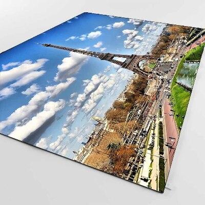 Else Paris Tower Photo Landscape View Nature 3d Print Non Slip Microfiber Living Room Decorative Modern Washable Area Rug Mat