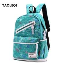 TAOLEQI Women Backpack For School Teenagers Girls Boys Bags Leisure Cute back pack Canvas Printing Backpacks Travel Mochila FI