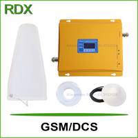 High Gain 65dB Lcd Display Dual Band 900 1800 Signal Booster Mobile Phone Gsm 4g Dcs1800