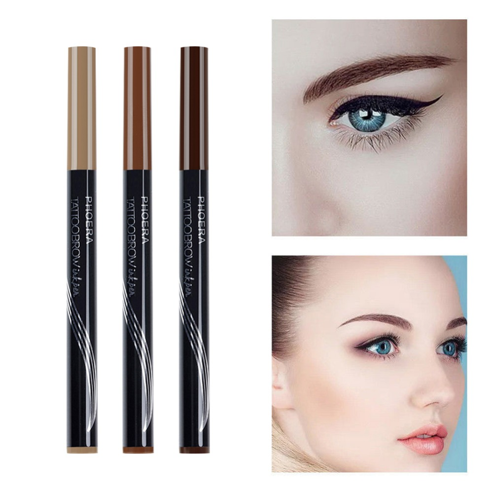 8d4295f78bd PHOERA Waterproof Fork Tip Eyebrow Pencils Fine Sketch Liquid Eyebrow tint microblading  Eyebrow Tattoo Pen maquiagem