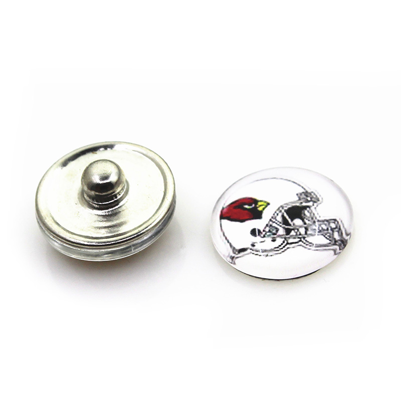 2018 New 20pcs/lot Arizona Cardinals Football Snap Buttons For 18mm Ginger Bracelet&Bangles DIY Snap Button Jewelry Charms