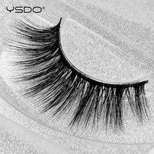 лучшая цена YSDO 1 pair fake eyelashes natural hair 3d mink false eyelashes long 100% dramatic wispy lashes fluffy mink eyelashes thick