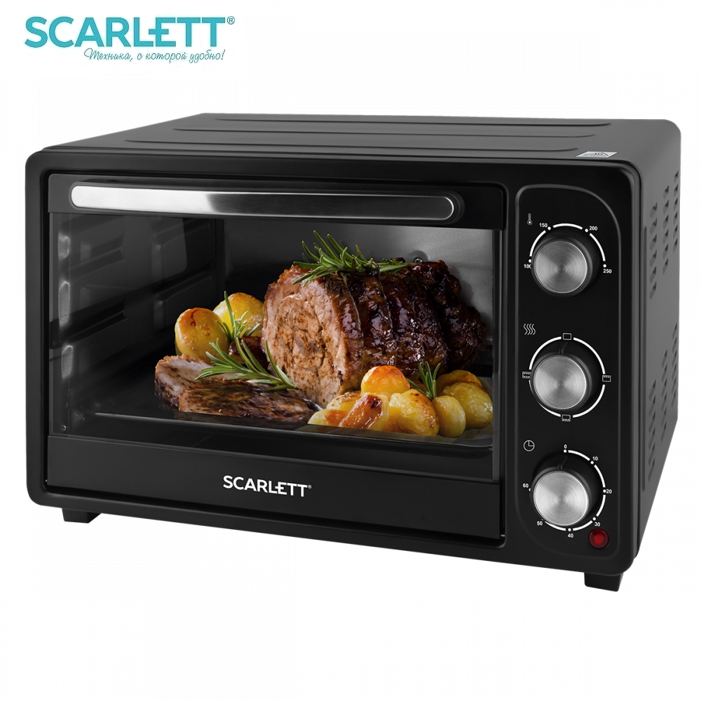 Oven electric Scarlett SC-EO93O20 1380 W Brass cabinet Electric Oven Mini Oven Household appliances for kitchen Microwave oven Kitchen 12l large capacity multi functional mini electric oven microwave oven household electric oven