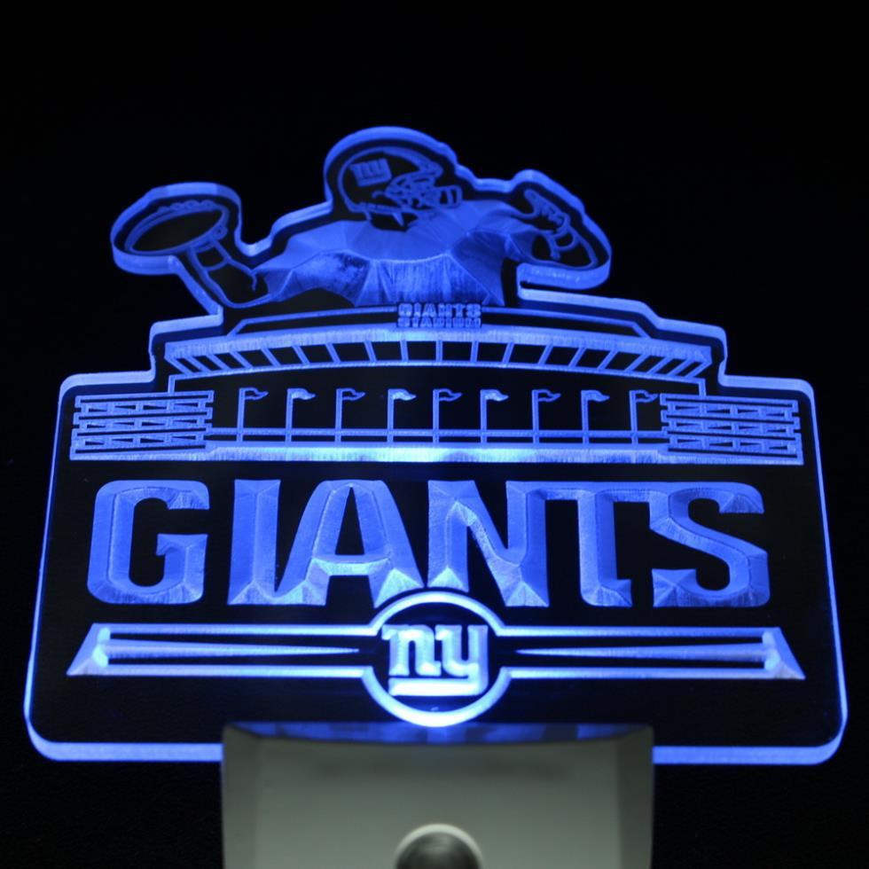 ws0121 ny new york giants bar logo day night sensor led night light